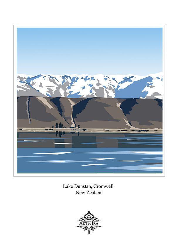 NZ scenery drawings on Behance