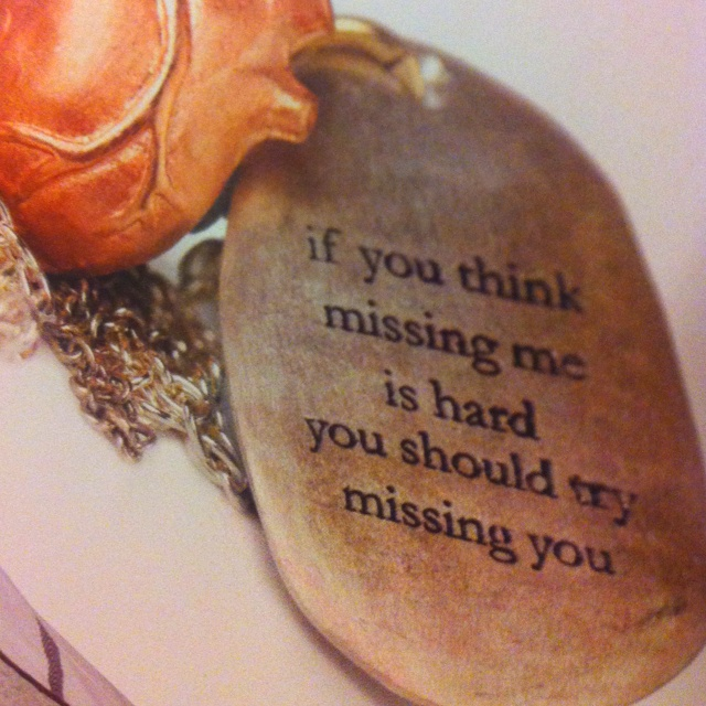 Bjorg Jewellery - if you think missing me is hard..