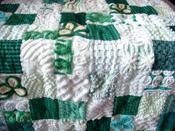 Erin Go Braugh Vintage Chenille Quilt for by AlorasAdorables, $164.50