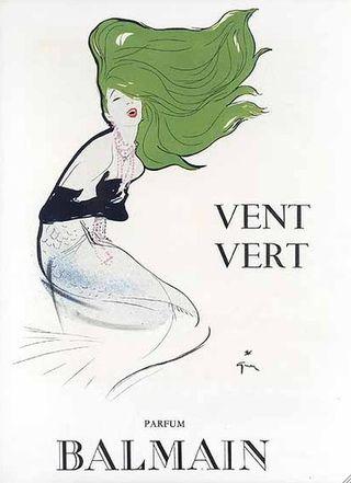 Vent Vert by Balmain vintage perfume ad