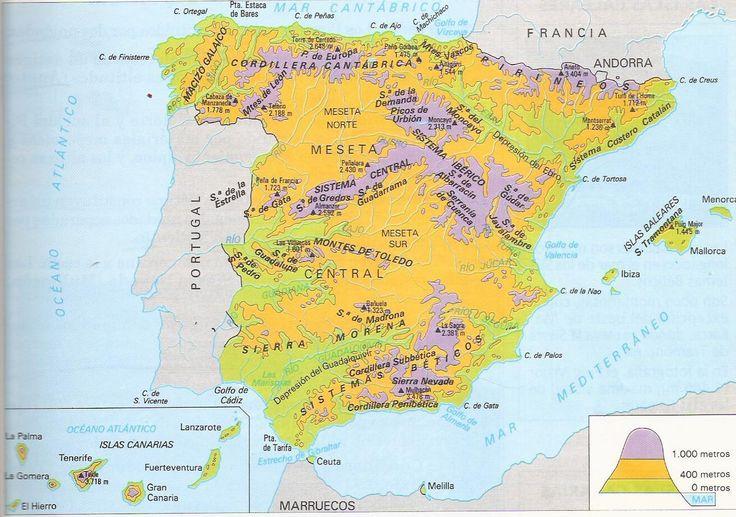 helloMrGómez: Geografía-El medio físico de España: El relieve