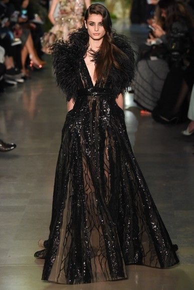 Ethereal gowns dazzled the runway at the Elie Saab Couture show.