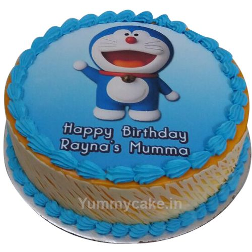 Kid's favorite cartoon character, order #doraemonbirthdaycake for your kid's first birthday #Yummycake #Cartooncake #Cakeforkids