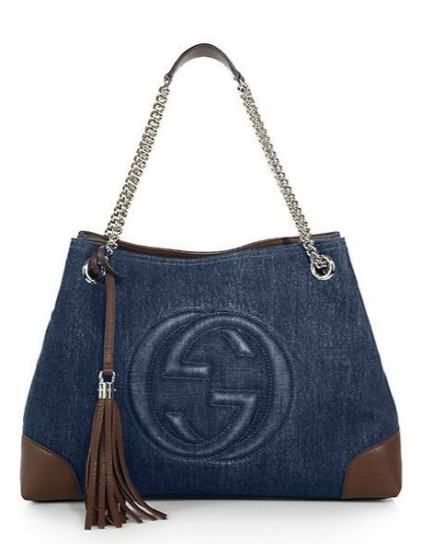 Gucci handbags soho denim shoulder bag outlet spring summer 2015