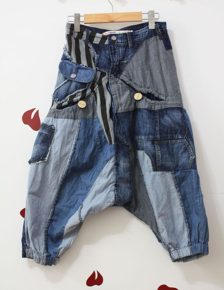 Novelty ! desigual hiphop style harem pants jeans $40.00