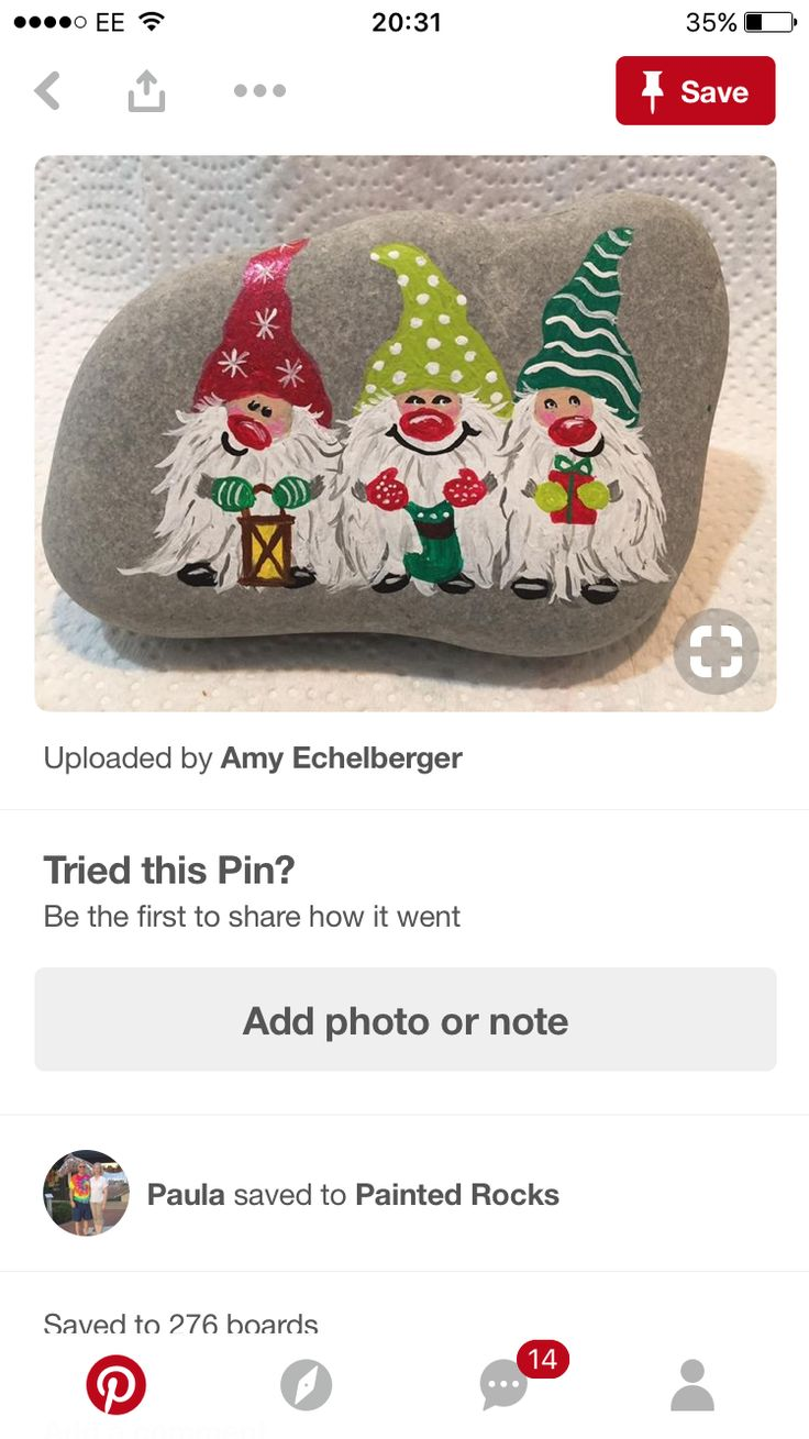 Christmas elves painted stones