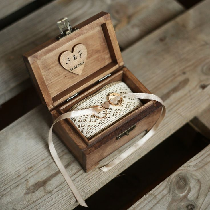 Personalized wedding ring box. Rustic wooden ring box. Rustic ring holder. Ring bearer