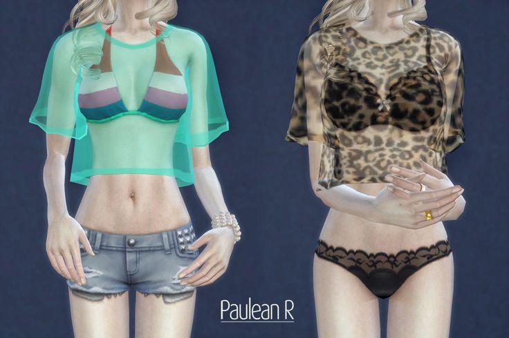 [Sims 4] Sexy Tranceparent Shirt – 透明罩衫 | Paulean R Sims