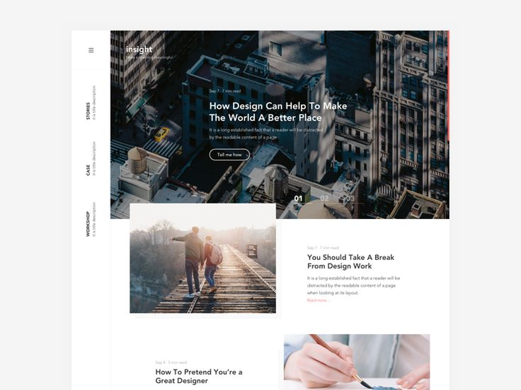 Exploration - Homepage design by Thomas Budiman