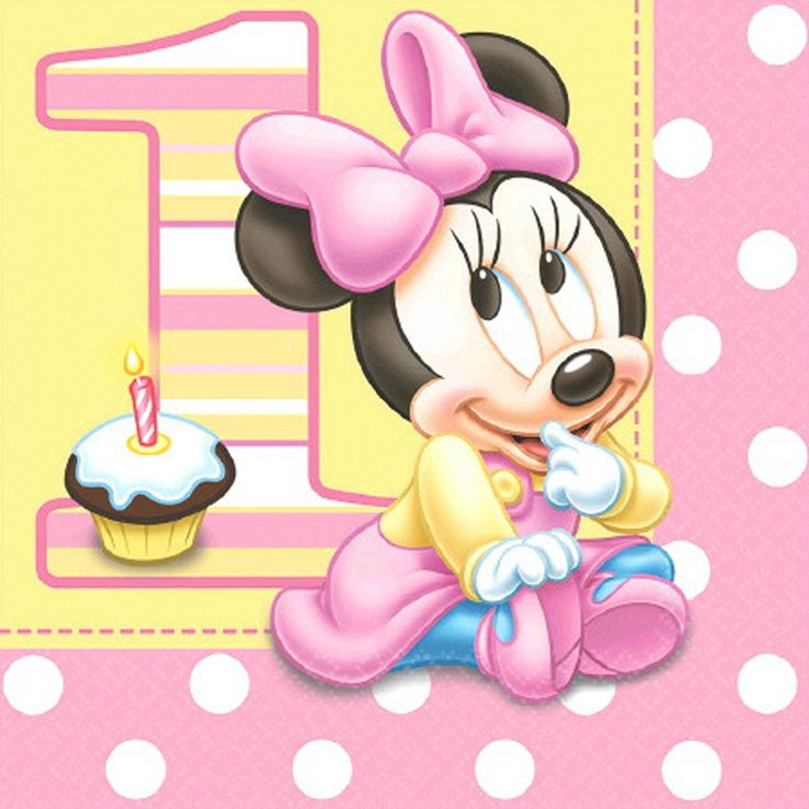 Disney Minnie's 1st Birthday Lunch Napkins
