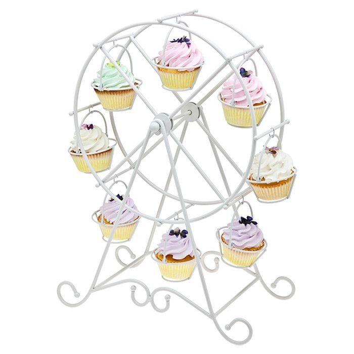 Торт инструмент Shipping 1 комплект белый 8 чашки колесо обозрения колесо кекс стойка день рождения отель торт украшение свадьба башни купить на AliExpress
