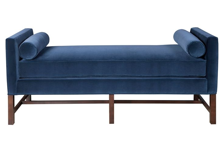 One Kings Lane - Handmade Upholstery - Andrew Day Chaise, Navy