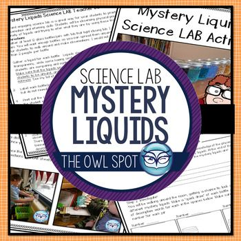 This fun, engaging, hands-on science activity is sure to be a hit with your students! They will be using their observation and inferring skills to try to guess what each mystery liquid is. It's the perfect 3 day lesson activity to fill in time between units, for