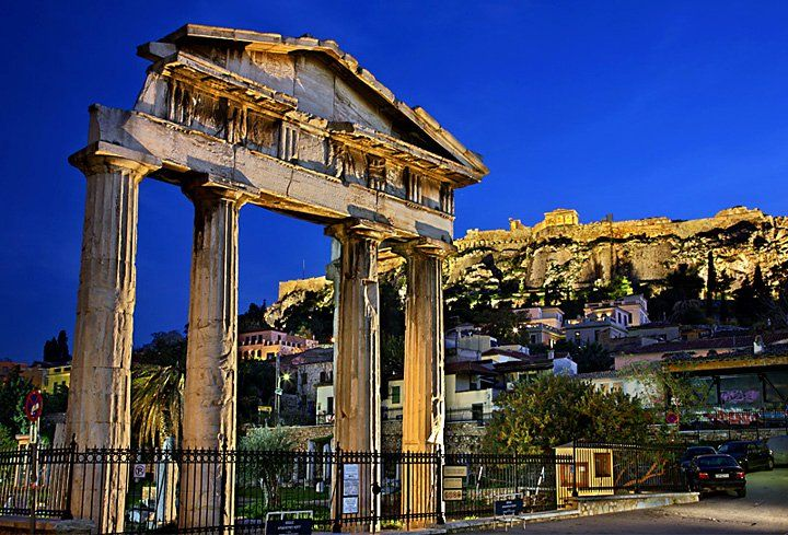 Plaka and Acropolis by harisphoto.com