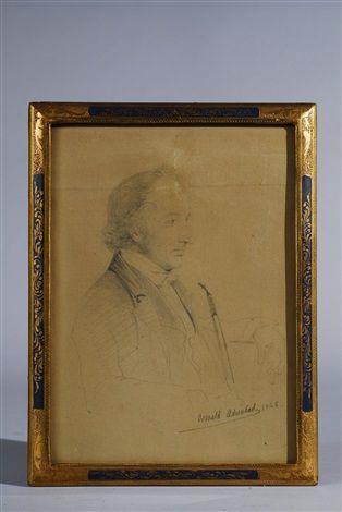 Zwei Männerporträts (2 works) von Oswald Achenbach