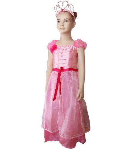 Prinses Seraphina jurk voor meisjes gebaseerd op de gelijknamige aankleedpop. Met dit schattige kostuum tovert u uw kleine meisje om in een echte prinses Seraphina! Het kostuum bestaat uit een luxe roze jurkje met prinsessenkroon. One size, voor kinderen tussen de 4 en 6 jaar.