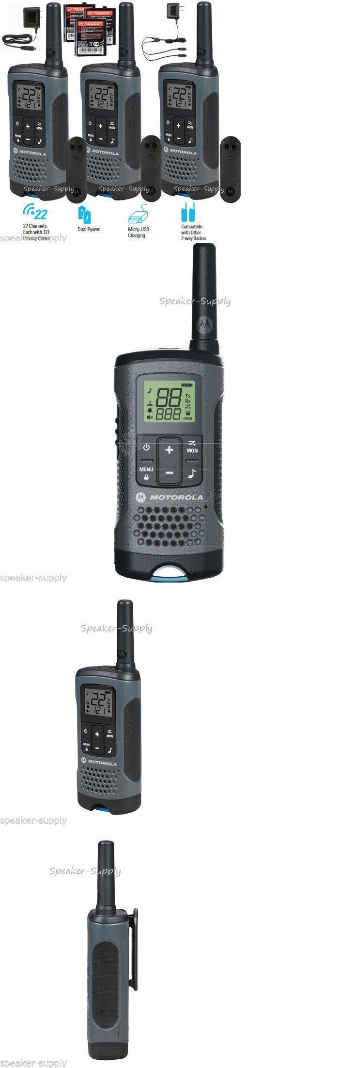 Walkie Talkies Two-Way Radios: Motorola Talkabout T200tp Walkie Talkie 3 Pack Set 20 Mile Two Way Radio Package BUY IT NOW ONLY: $65.0