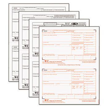 W-2 Tax Form, Four-Part Carbonless, 50 Forms