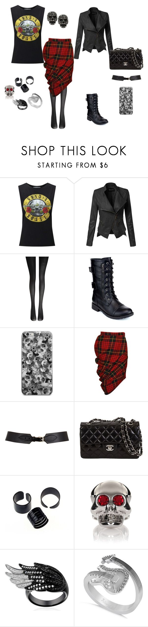 Todo dia é dia de Rock! by simone-silva-s2 on Polyvore featuring moda, Miss Selfridge, Alexander McQueen, Fogal, Refresh, Betsey Johnson, Allurez, Moschino and Maison Boinet