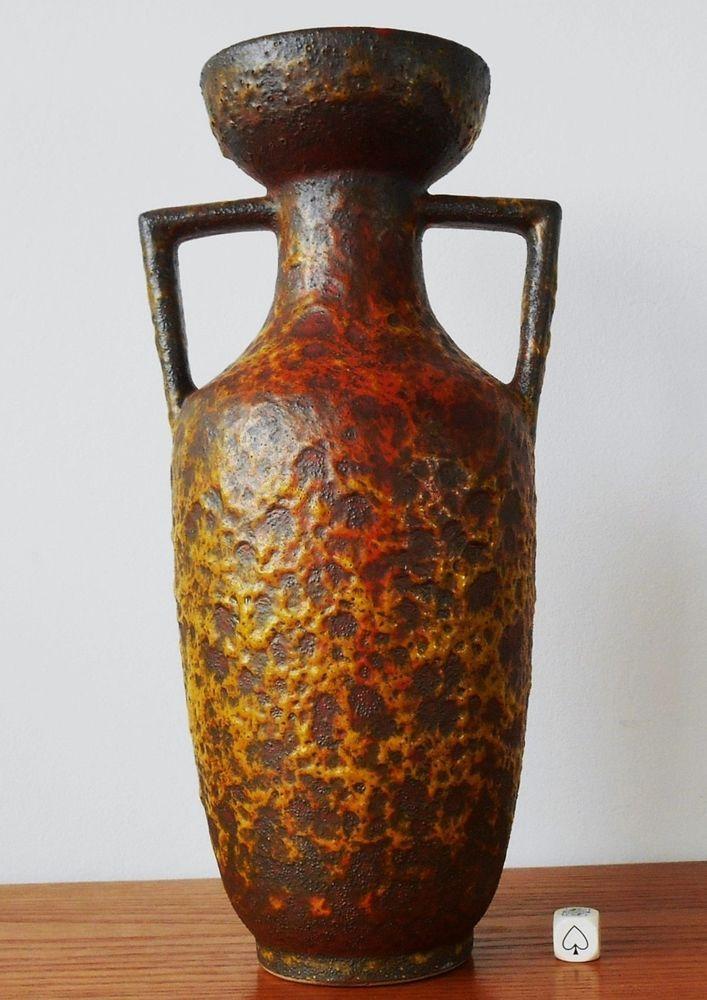 Rare Silberdistel Fat Lava Vase West German Mid Century Modern Pop Art XL 32cm | eBay