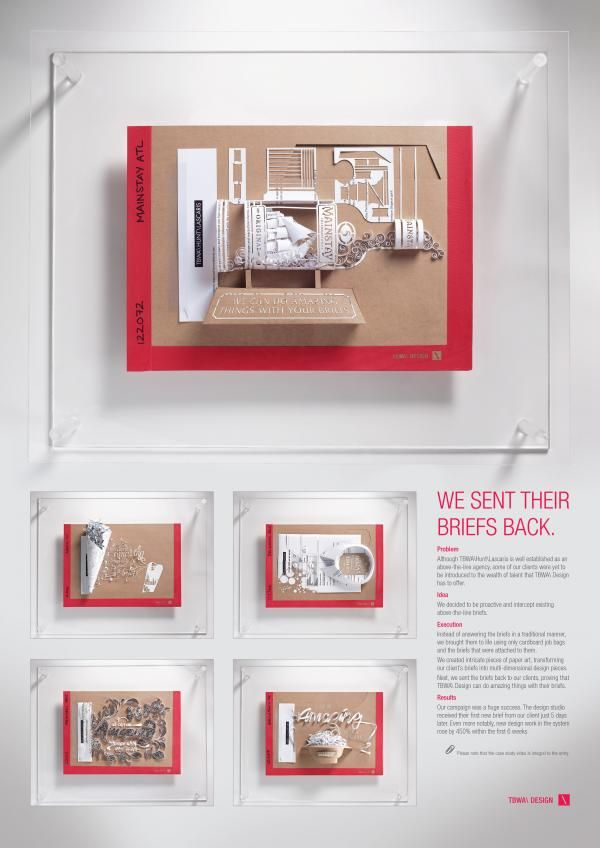 """Advertising Agency: """"WE SENT THEIR BRIEFS BACK"""" Promo / PR Ad  by Tbwa\hunt\lascaris, Johannesburg"""