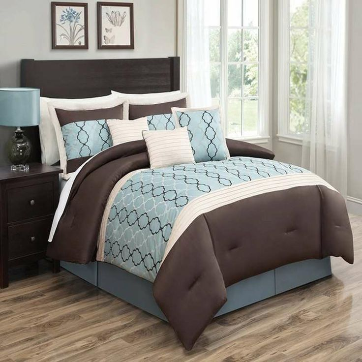Cole Blue 7 Pc Comforter Set By Luxury Bedding Co 7