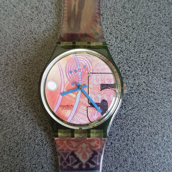 1991 Vintage Swatch Watch Franco GG110