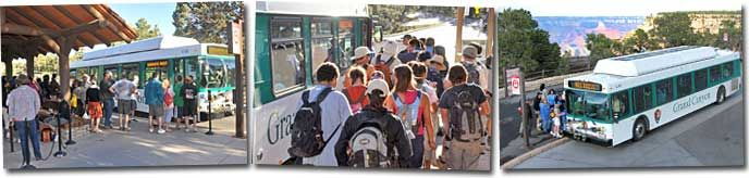 Fall 2013 (Sept. 7 through Nov. 30, 2013) South Rim Village Transit Map: Free Shuttle Bus! Blue Line: Village Transportation. Orange Line: Five Scenic Viewpoints.