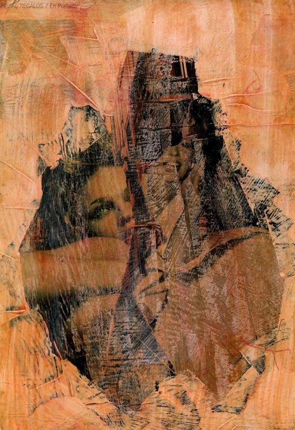 25-ART in PAPER. Pintura Mixta Collage. Tamaño 30x21 cm.  http://www.crisacqua.com