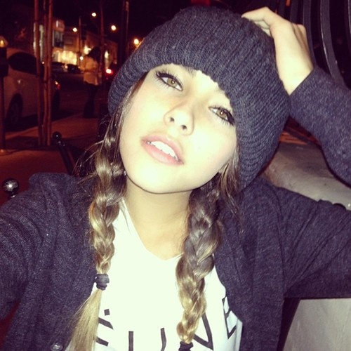 She's so pretty! Love the beanie