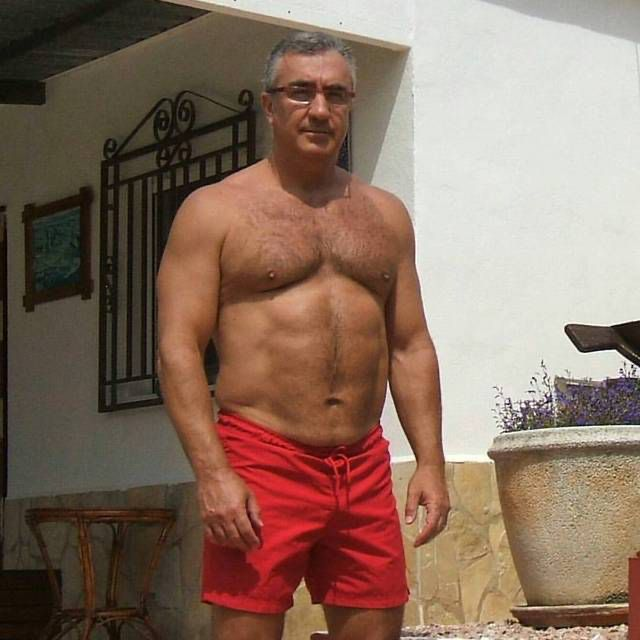 Pin by Damon on Silver foxes | Hairy chested men, Bear men