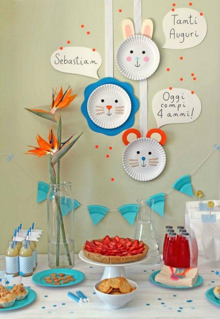 Ideas chulas para cumpleaños infantiles. Guirnalda de platos