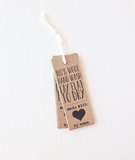 Items similar to Product tags - custom business tags - handmade with love tags - business labels - kraft brown tags on Etsy