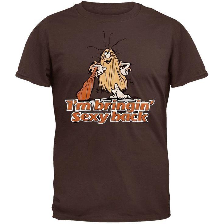 Captain Caveman - Sexy Back Chocolate Brown T-Shirt