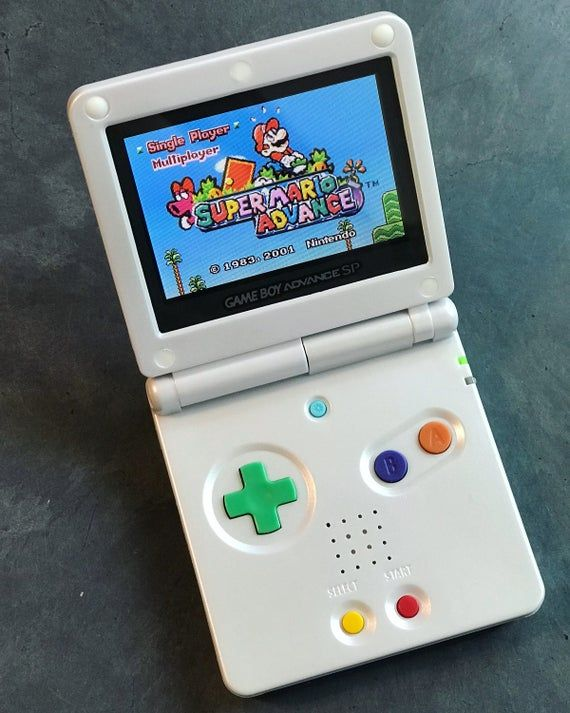 Nintendo Game Boy Advance Gba Sp White System Ags 101 Brighter Mint New Custom Pride Unity Peace Gameboy Nintendo Game Boy Advance Nintendo