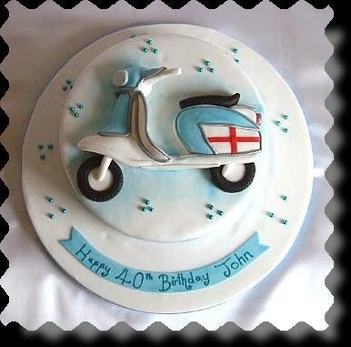 21 best Vespa cakes images on Pinterest Vespa cake Amazing