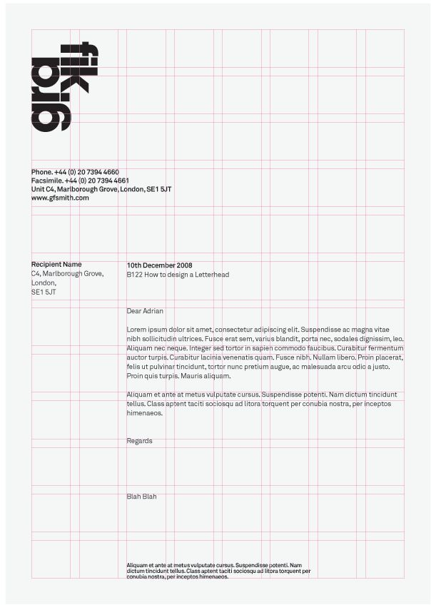Letterhead Grid System