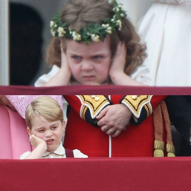 La storia si ripete #royalfamily #royals #george #grace #london #queenelizabeth #princegeorge #meme #gracevancutsem #royalevent