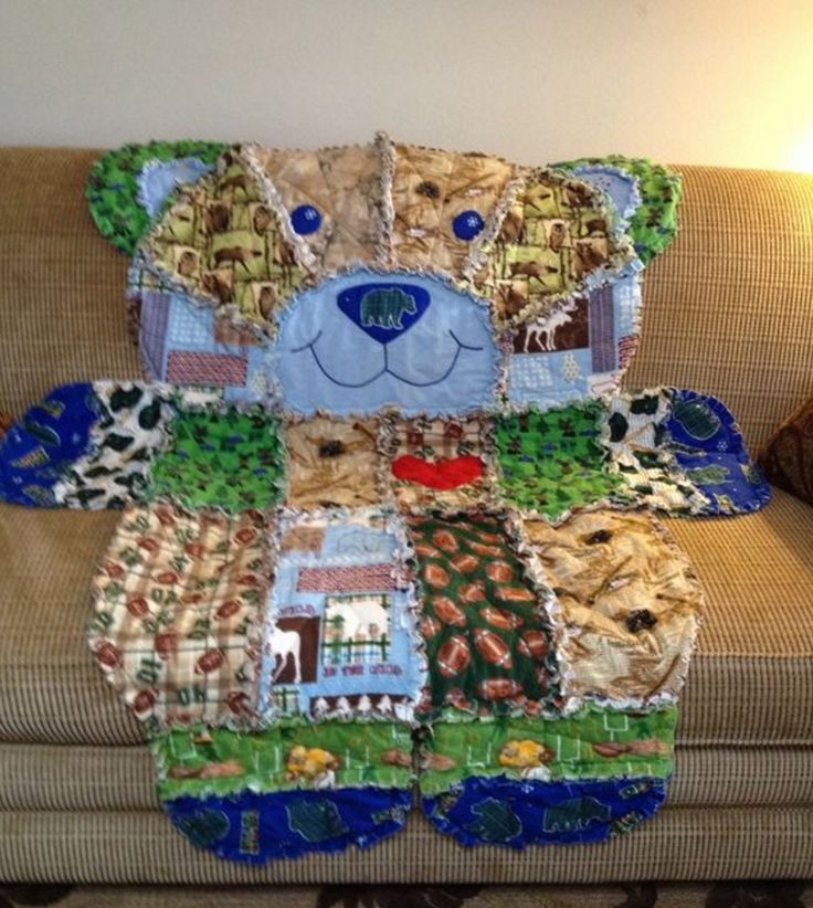 You Will This Gorgeous Teddy Bear Patchwork Quilt Check