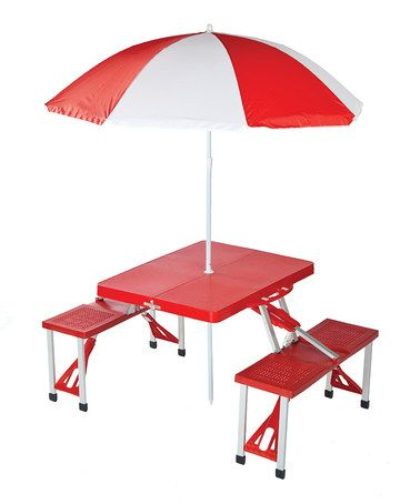 Take a look at this Portable Picnic Table & Umbrella by Picnic Plus on #zulily today! $79.99, regular 140.00