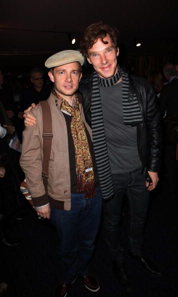 Benedict and Martin (Photo by Jon Furniss/WireImage)