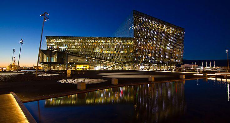 Afbeeldingsresultaat voor concertzaal Harpa reykjavik