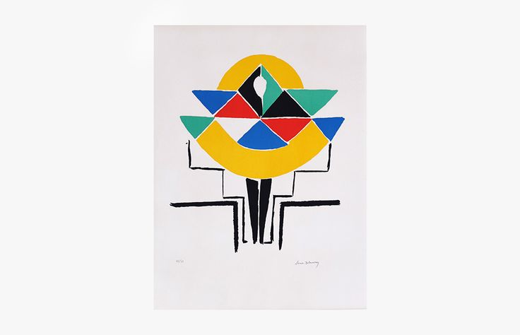 Sonia DELAUNAY MODELE Lithographie 26/75 65,5x49,5 cm