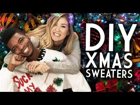 DIY Ugly Christmas Sweaters with KINGSLEY and Meghan Rosette! - YouTube