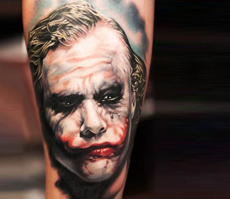 Joker tattoo by Khan Tattoo
