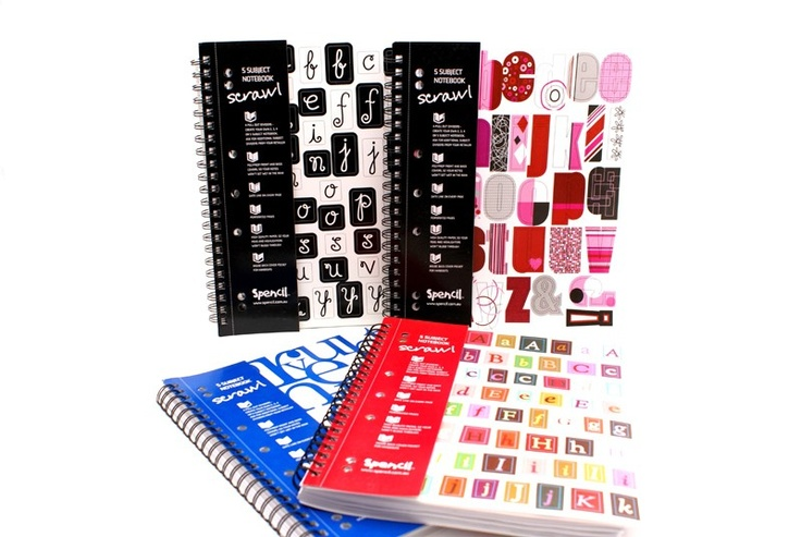 Scrawl A4 5-Subject 250pg Notebook