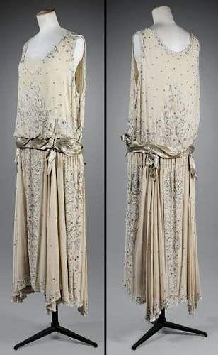 Sublime robe de soirée années 20 - Gabrielle Chanel, 1923