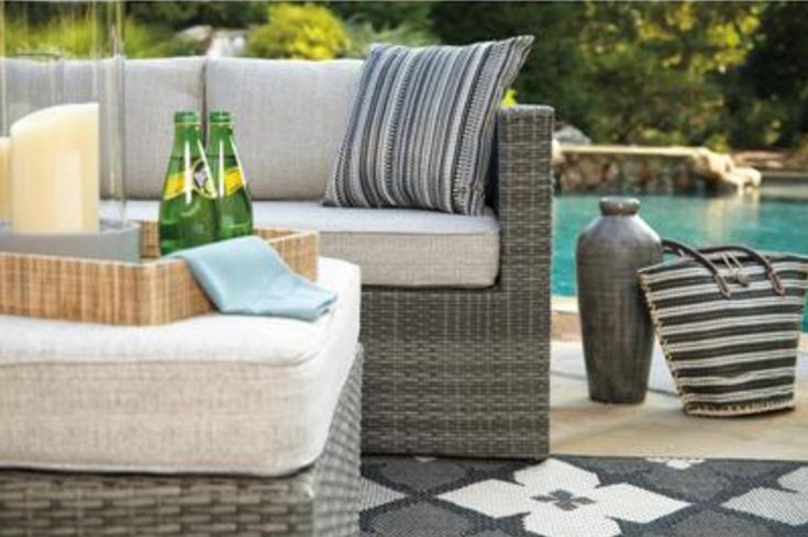 Looking for comfortable #furniture that is ideal for lounging on #sunny days? Ashley Furniture introduces their new contemporary #outdoor furniture to blend with any style and budget. Read our blog to find out more!