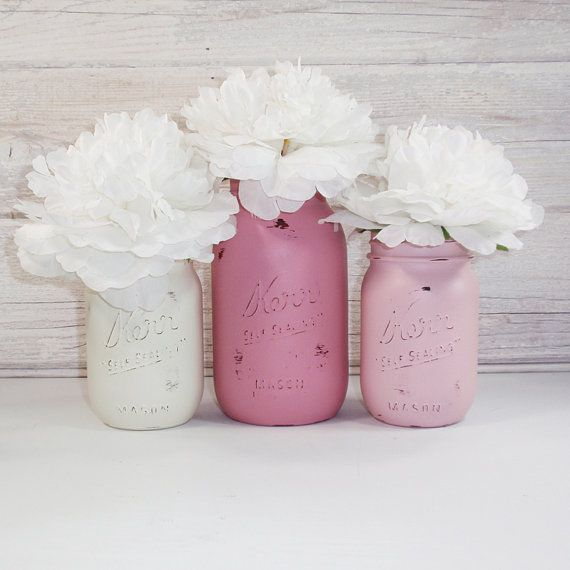 Hey, I found this really awesome Etsy listing at https://www.etsy.com/listing/177006629/3-hand-painted-mason-jars-flower-vases