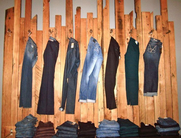 Blue Jean wall at #ShopAdorn....custom made!!! # ...